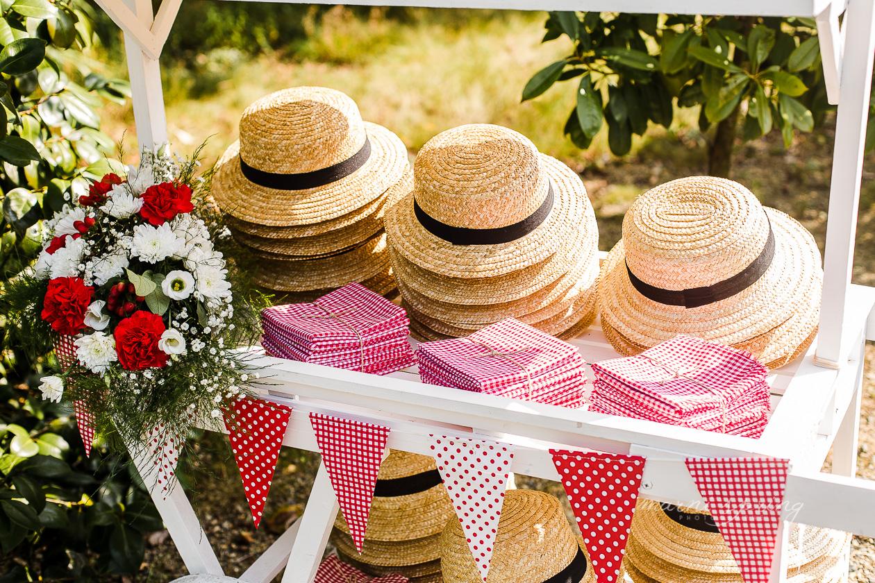 Canotiers accueil mariage L et G - Soeurettes and Co